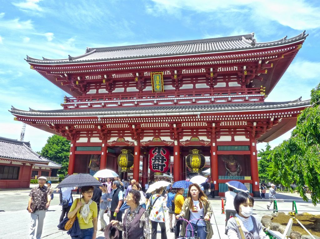The famous Sensoji Temple in Asakusa