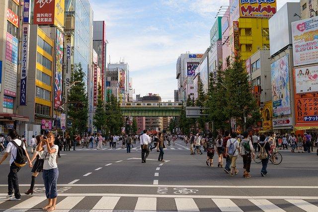 Streets of Akihabara Tokyo