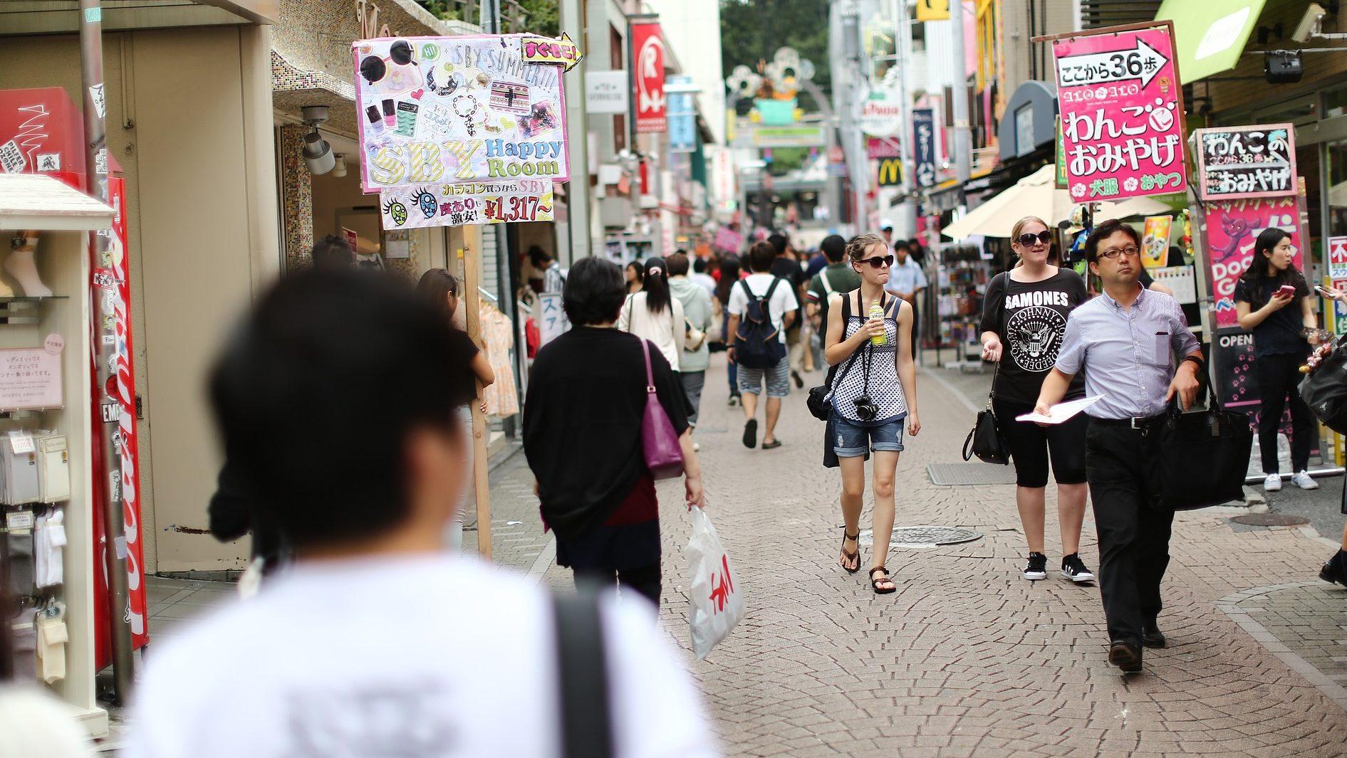 The colorful streets of Harajuku.