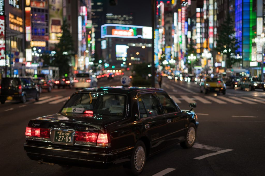 A taxi in Tokyo