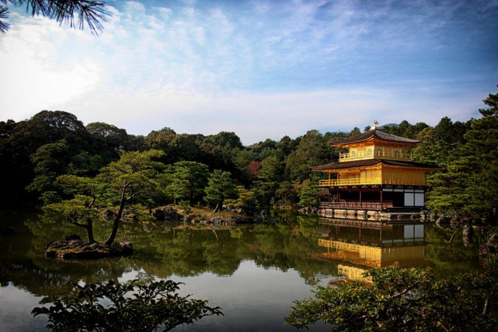 Kinkaku-ji, the Golden Temple, in Kyoto.