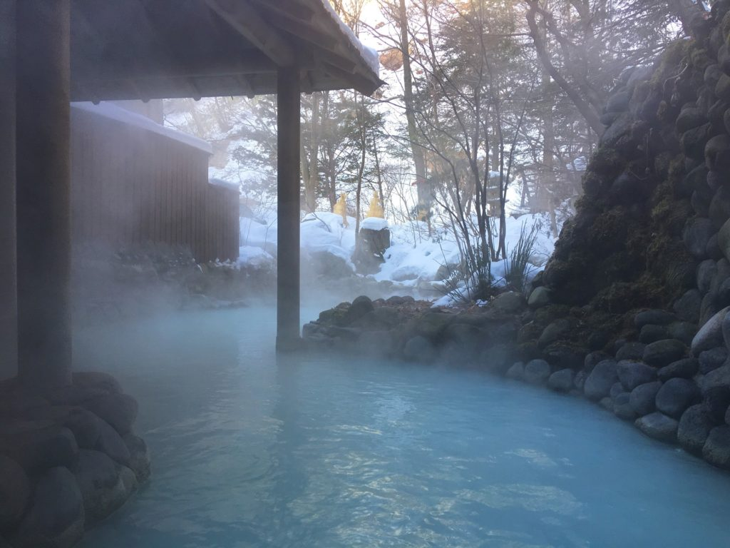 Onsen in the nature.