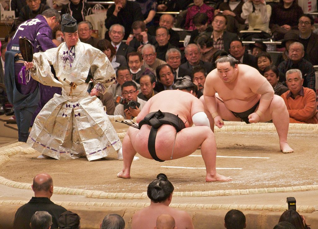 Sumo is one of the most popular sports in Japan.