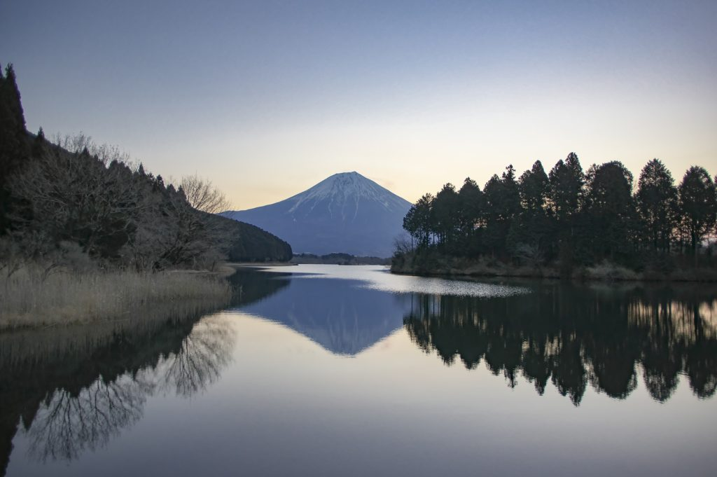 Mount Fuji in winter.